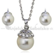 Súprava Swarovski - perla s klobúčikom