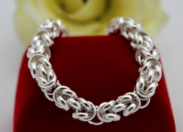 4dfef1623 Anjelský strieborný náramok - kráľovský vzor   Šperky ...