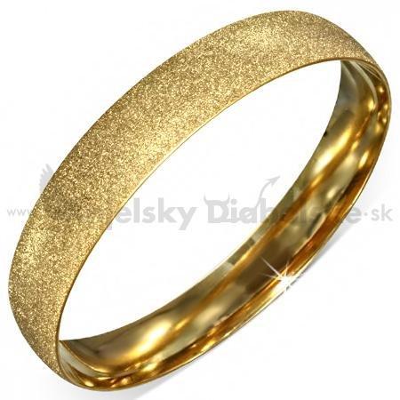 5fe625284 Pevný oceľový náramok-zlatý pieskový vzor | Anjelskydiabolske.sk