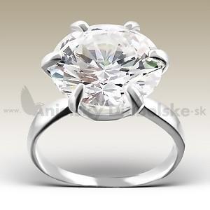 d6a3be6b9 Luxusný strieborný zásnubný prsteň - veľký kryštál ...