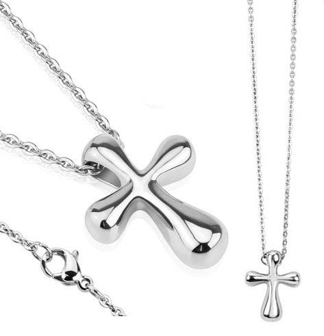 64bbf04f9 Oceľová retiazka a prívesok krížik, strieborná | Šperky ...