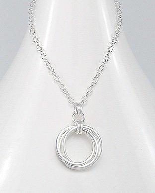 Strieborná retiazka - tri kruhy  0104d828682