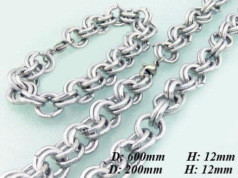 8e78eed47 Mohutná oceľová súprava - hladké a vzorované očko   Šperky ...