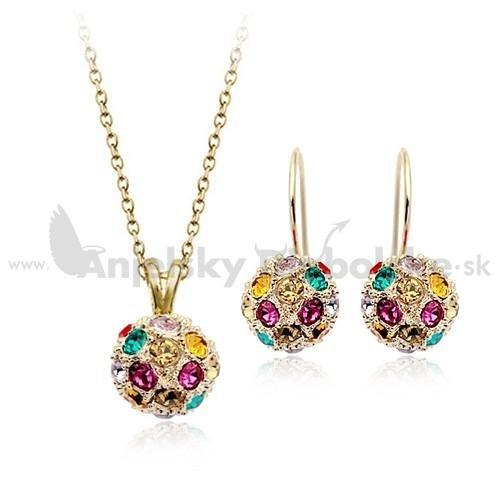 018a0ddaf Súprava Swarovski farebné guličky, Sety, Anjelskydiabolské šperky ...